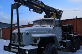 Лесовозный тягач УРАЛ- 43204-1111-40 2013 г.в., ГМ Велмаш VC8L. Palfinger.