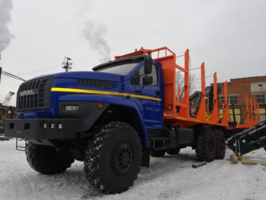 Сортиментовоз Урал NEXT 4320-72Е5 ЕВРО-5 6×6, 8,2 тн, 285 л.с. С ГМ Майман 110S. На заднем свесе 2019 г/в.