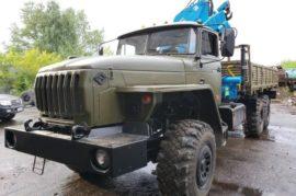 Бортовой Урал с КМУ ИМ-150 на шасси 4320-1912-40