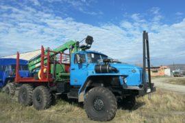 Лесовозный тягач УРАЛ 4320 2003г.в., навесное 2019г.в, ГМ Атлант 90C